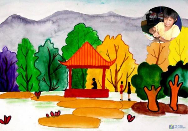 公园(于永淇4)-庆十一儿童画展