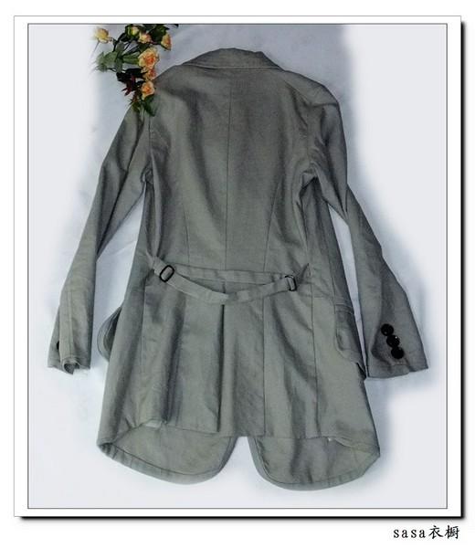 棉麻收腰风衣款西服2图片